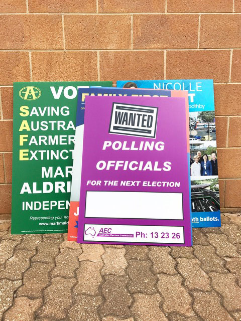 Election Posters Adelaide